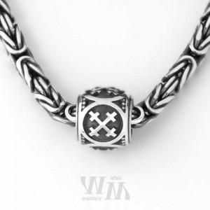 Оберег Крест Мары - бусина, серебро